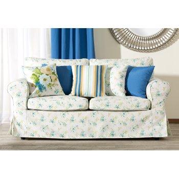 Obývací pokoj - látky Mirella - modrá