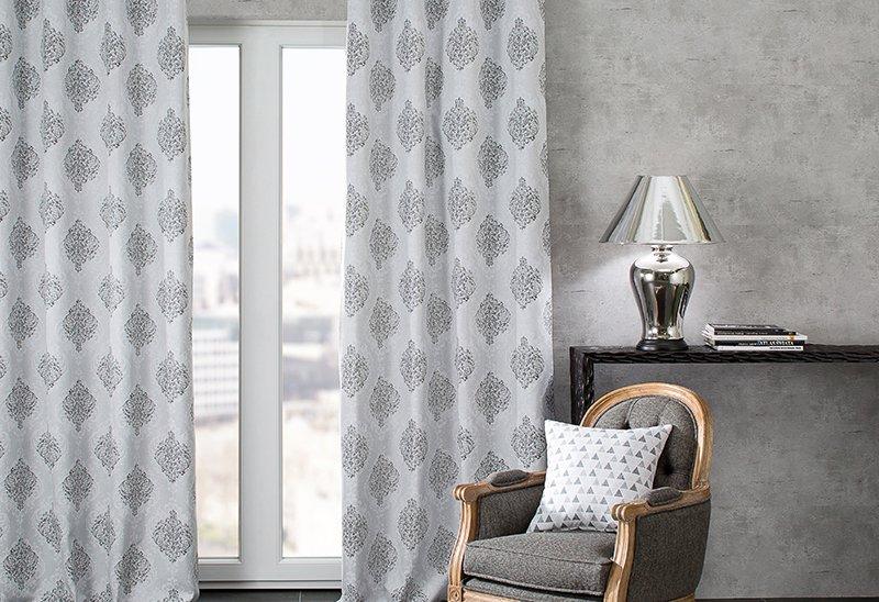 Obývací pokoj - látky Rustica - šedé a grafitové