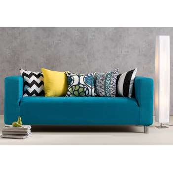Nappali - kanapéhuzat IKEA kanapéra Etna bútorszövetből