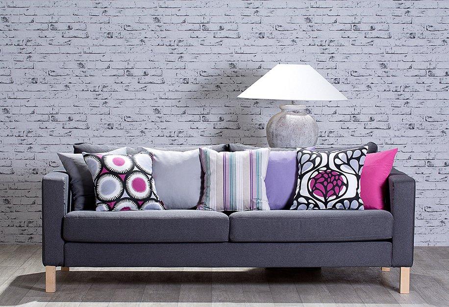 Nappali - kanapéhuzat IKEA kanapéra Edynburg bútorszövetből