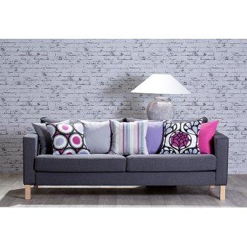 Salon - pokrowiec na sofę z IKEA, kolekcja Edynburg