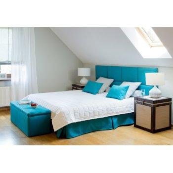 Sypialnia w turkusach