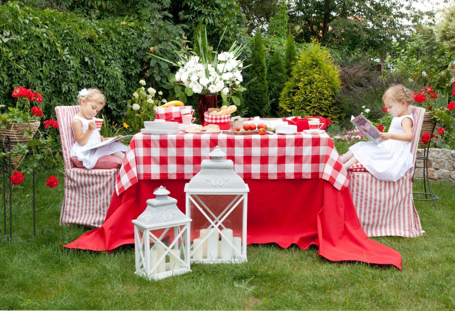 Garden Red & White Gingham Check