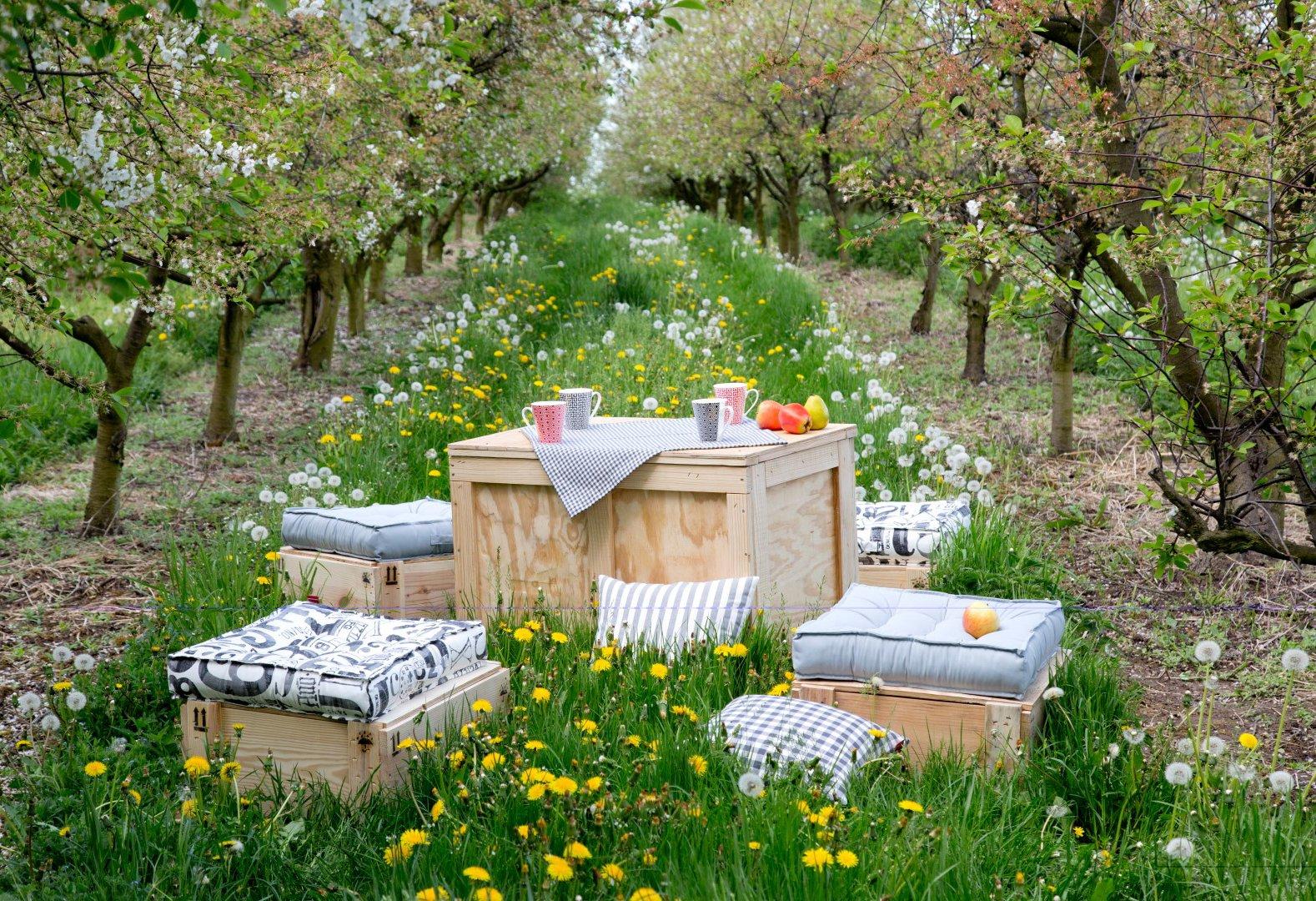 Ogród- siedziska w szarości