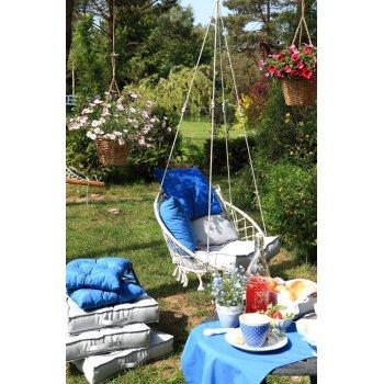 Zahrada - modrá a šedá