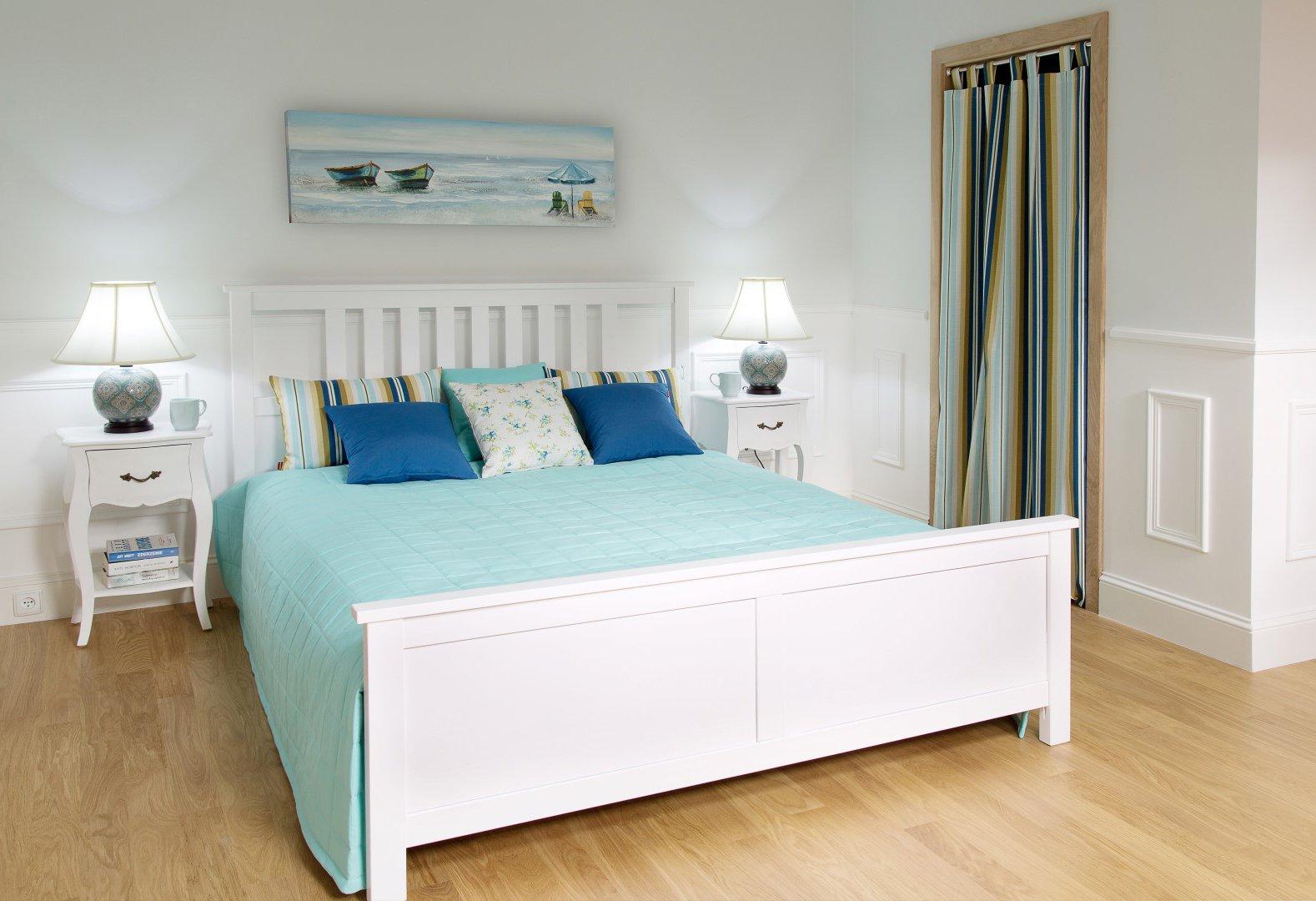 Sypialnia w błękitach