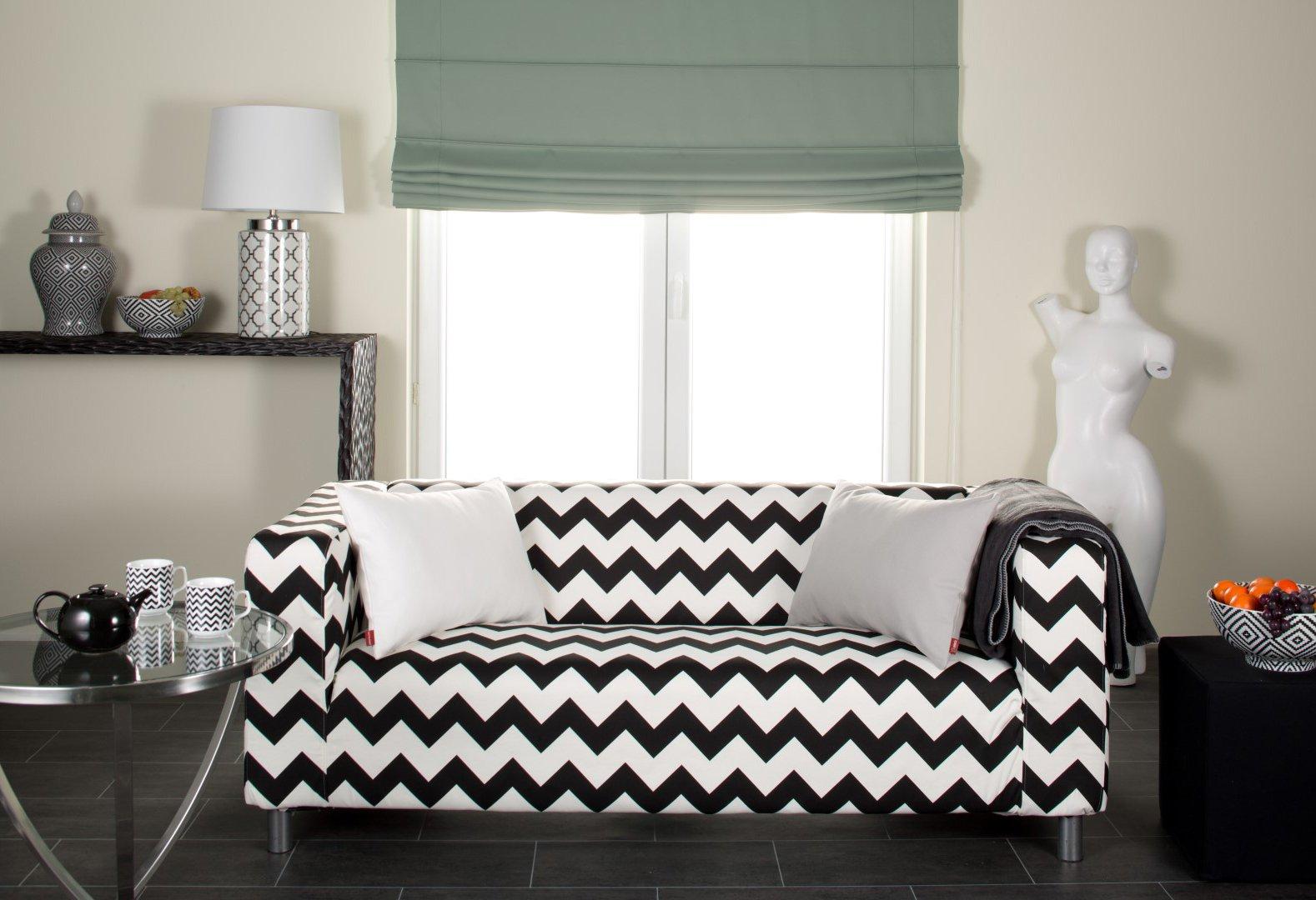 Obývačka - čierno-biely cikcak