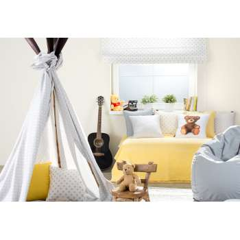 Dětský pokoj - šedo-žlutá kombinace