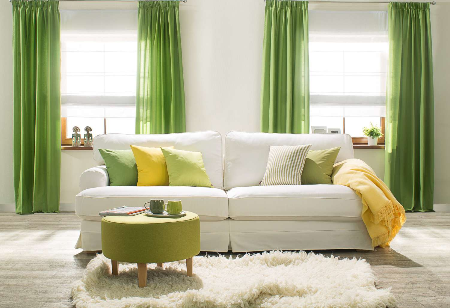 Nappali - tavaszi üde színek: zöld