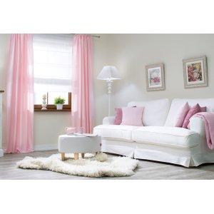 Wohnzimmer in Pastellrosa
