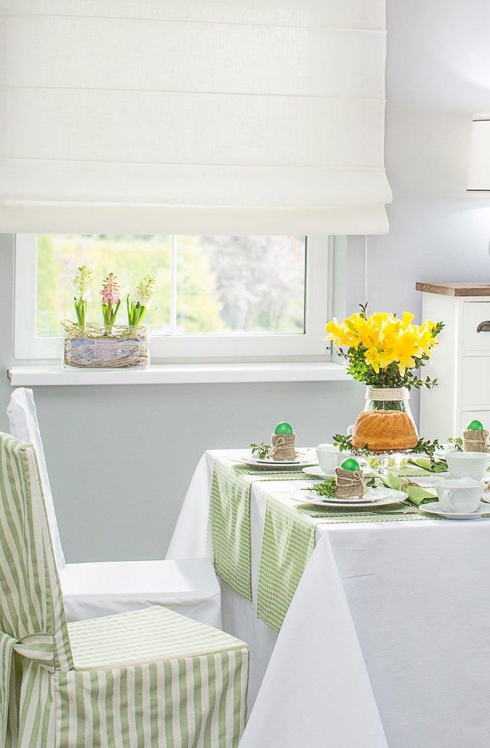 Étkező - tavaszi üde színek: zöld és csíkos