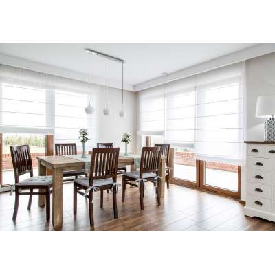 Dining room in White