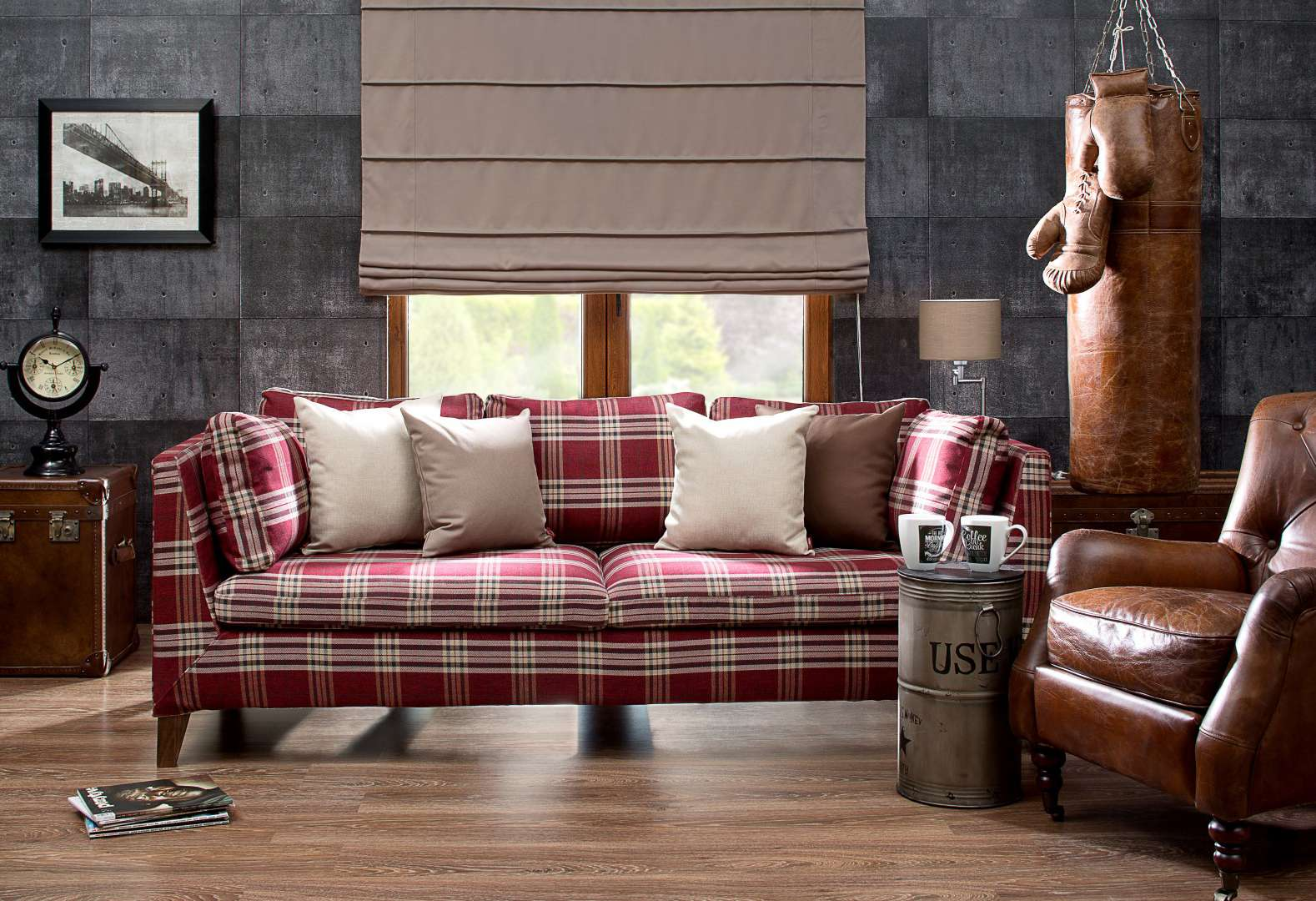 Living room Masculine Touch