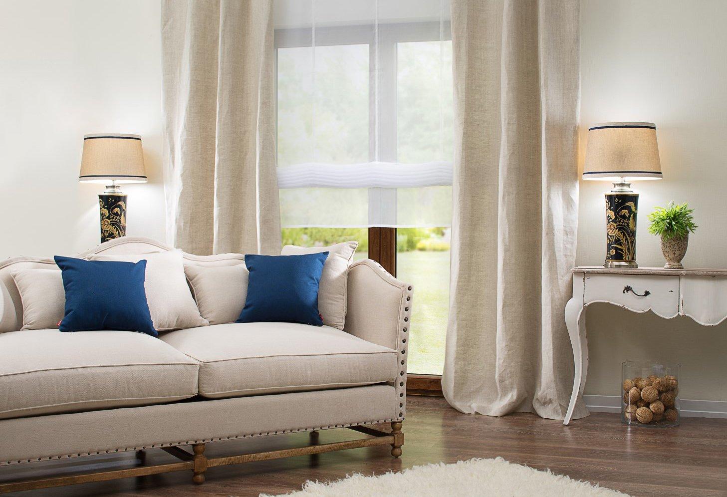 Obývací pokoj v přímořském stylu Hampton