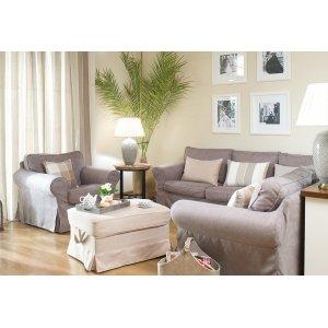 Obývací pokoj v odstínech béžové