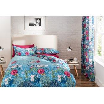 Sypialnia w orientalne kwiatowe wzory