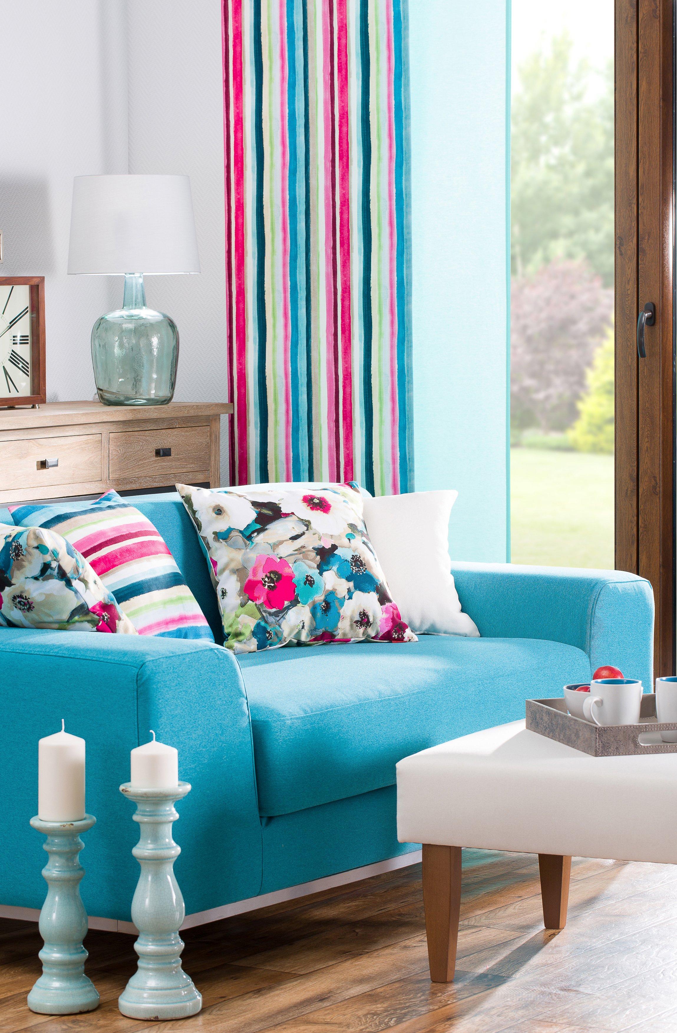 Nappali - Monet kék és vidám színek