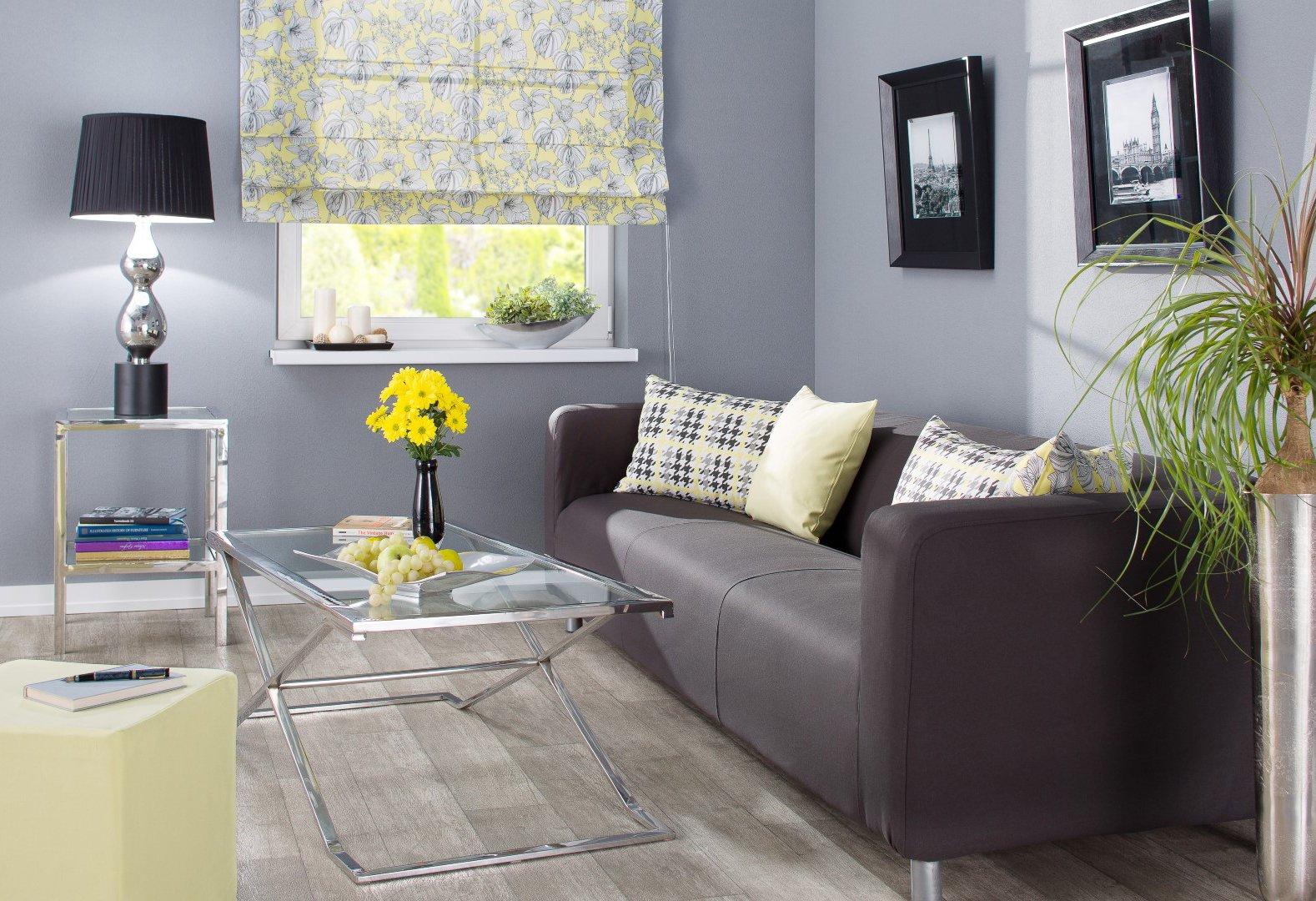 Obývací pokoj černá a žlutá