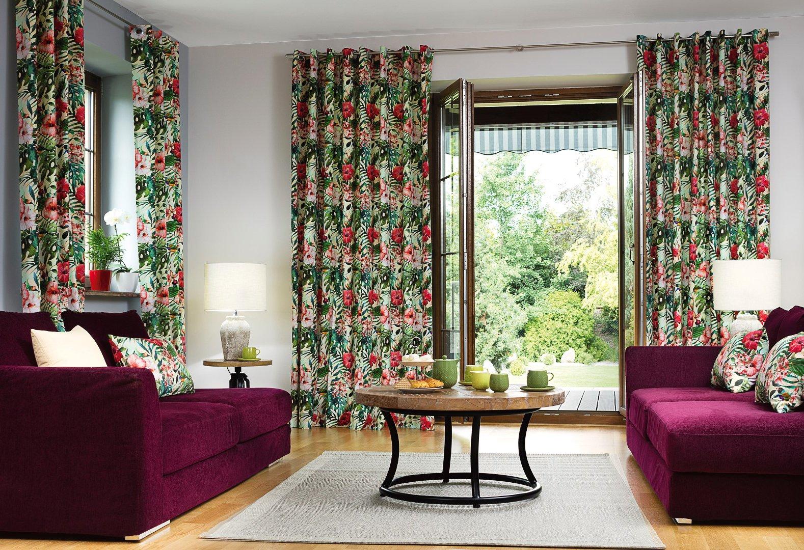 Džungle v obývacím pokoji - látky New Art