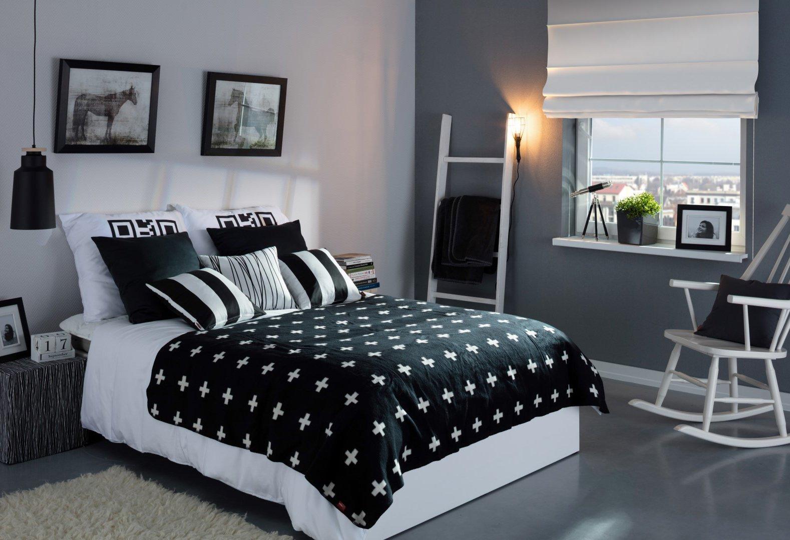 Schlafzimmer black&white