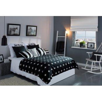 Spálňa čierna a biela