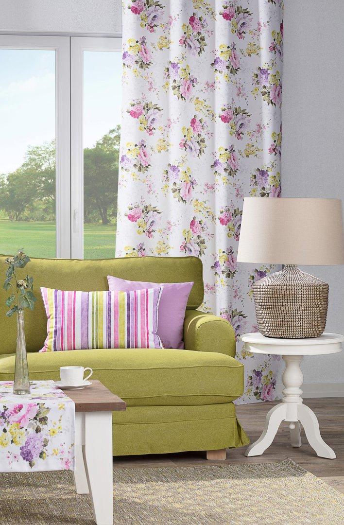 Salon w kolorach green&violet