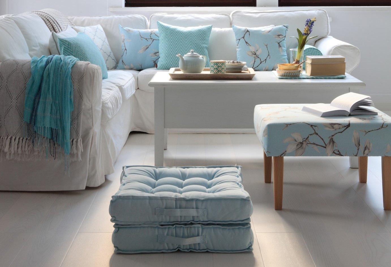 Living room Blue & White