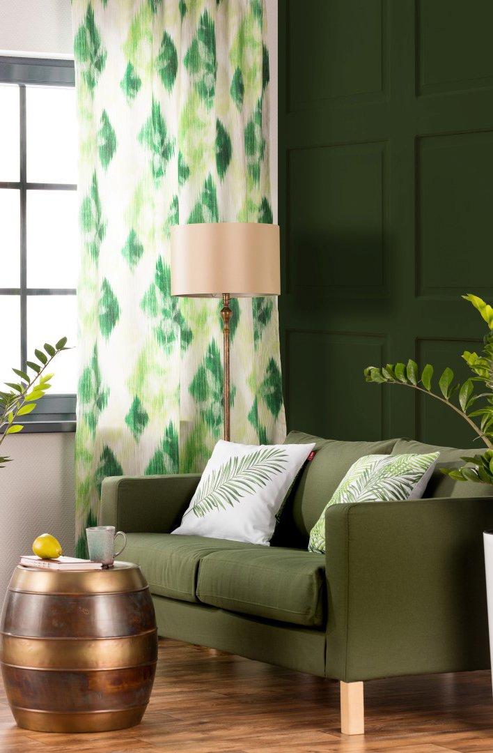 Obývací pokoj v odstínech zelené - barvy roku 2017