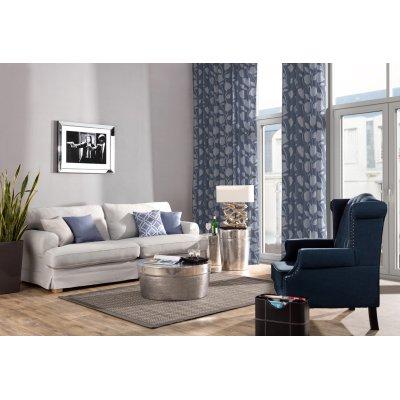 Wohnzimmer in Blau- Grau