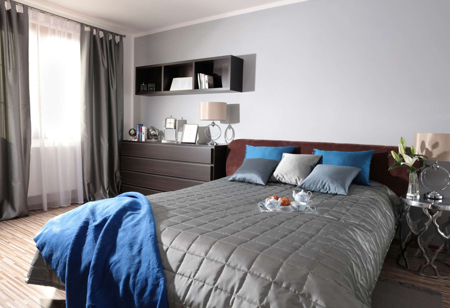 slaapkamer in glamourstijl
