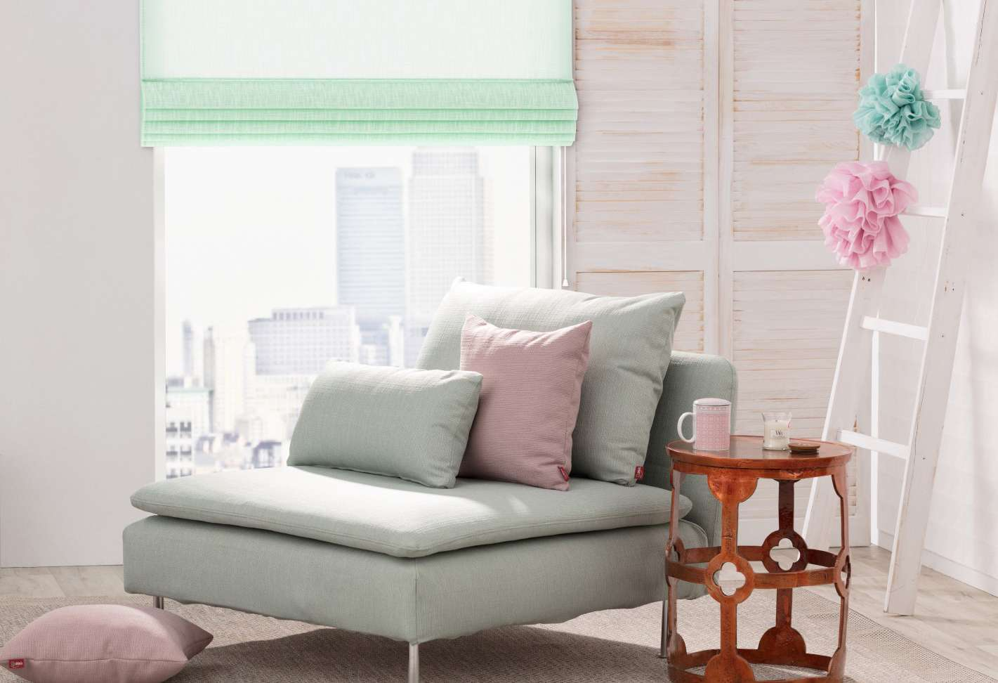 Obývačka v odtieňoch pastelu
