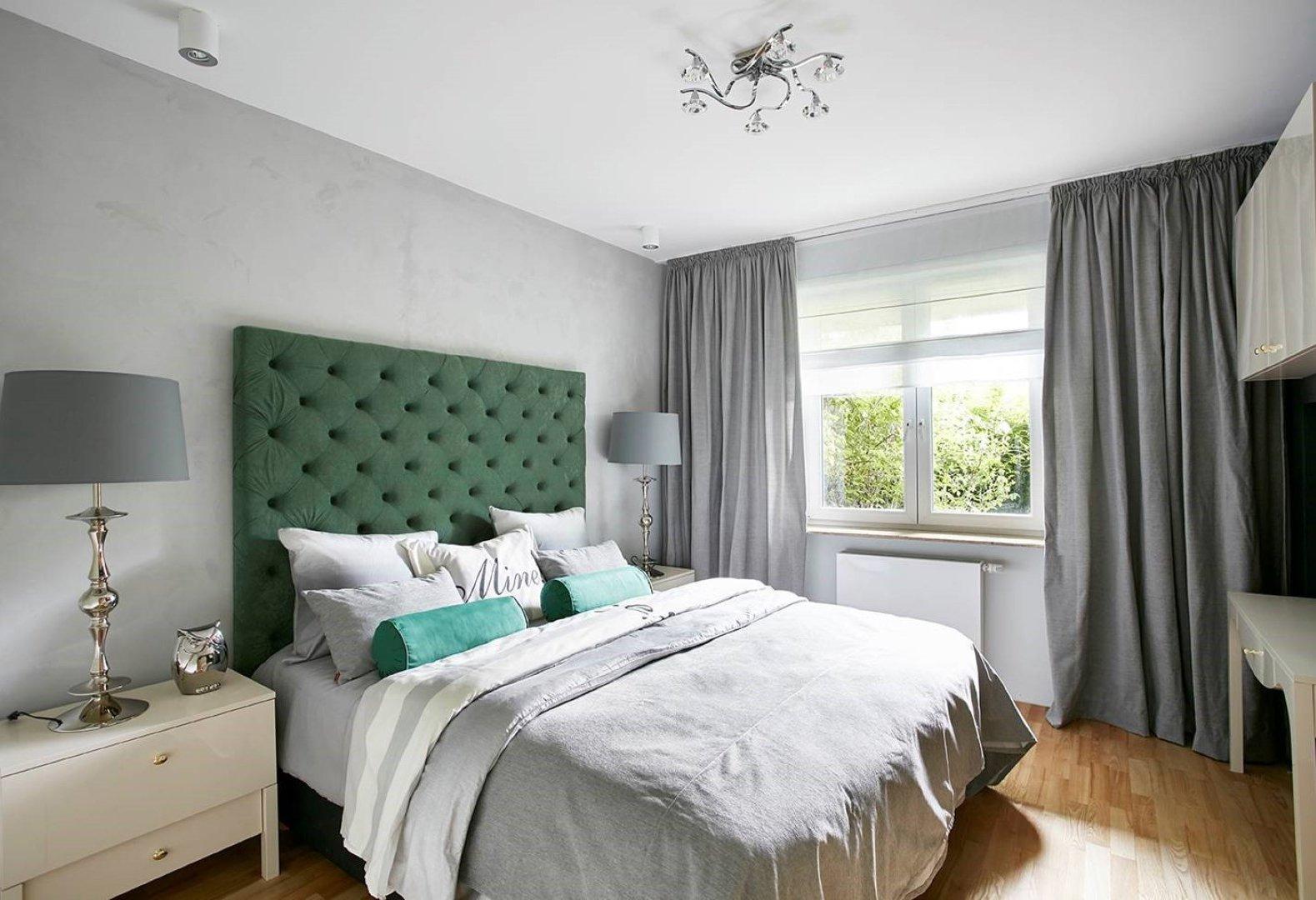 Schlafzimmer in Grau