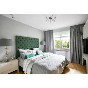 Elegancka i nowoczesna sypialnia w szarościach