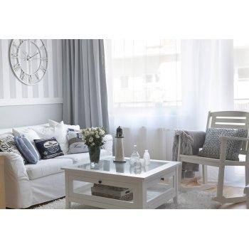 Hvit vardagsrum