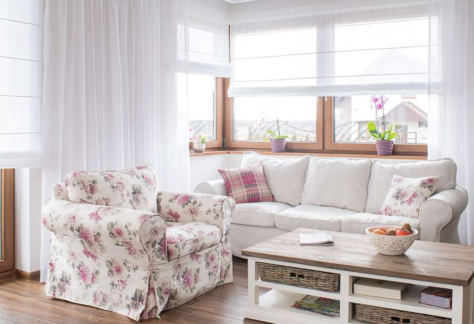 woonkamer in Engelse stijl