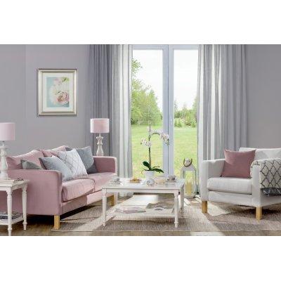 Obývačka v delikátnej sivej a pastelovej