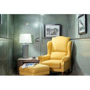 fotel mustrardowy