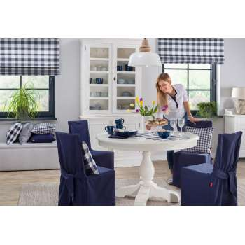 Dining room Timeless White & Navy Blue