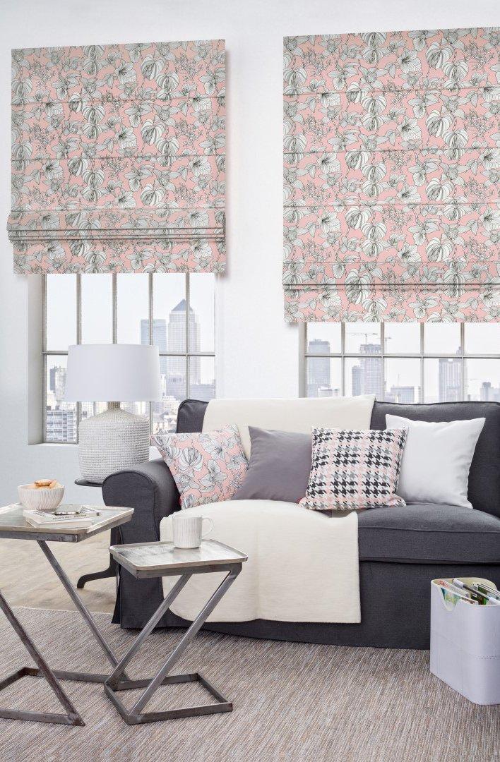 Róż w salonie- kolekcja Brooklyn