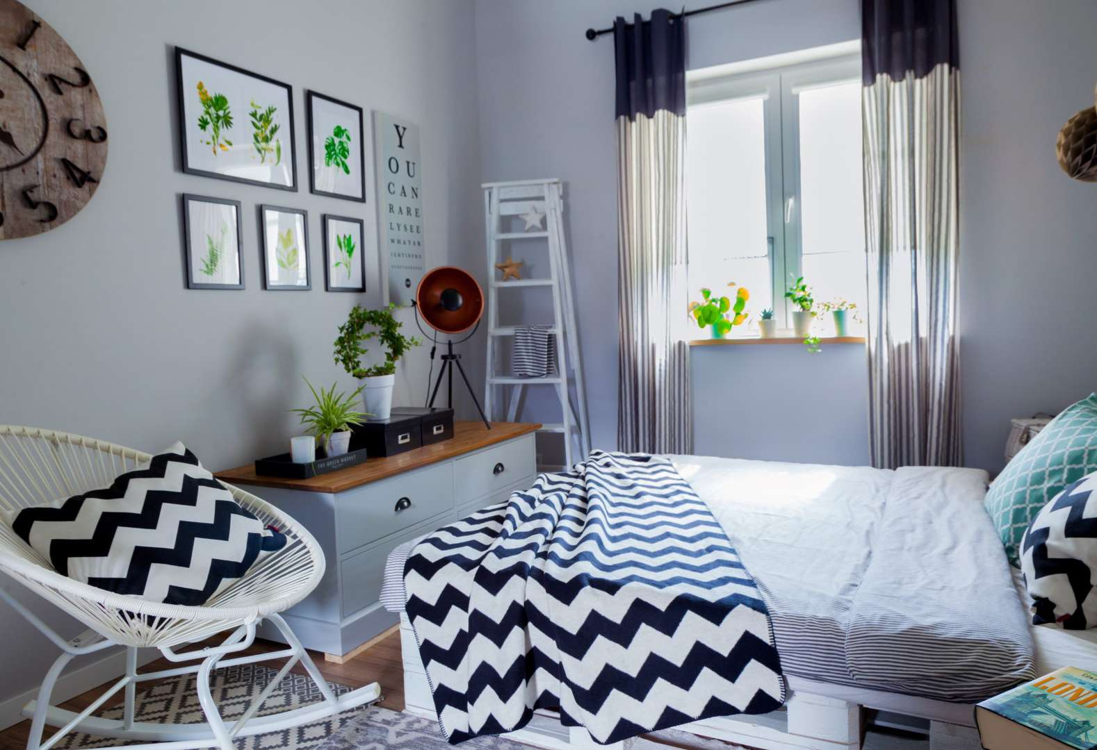Skandinaviško stiliaus miegamasis