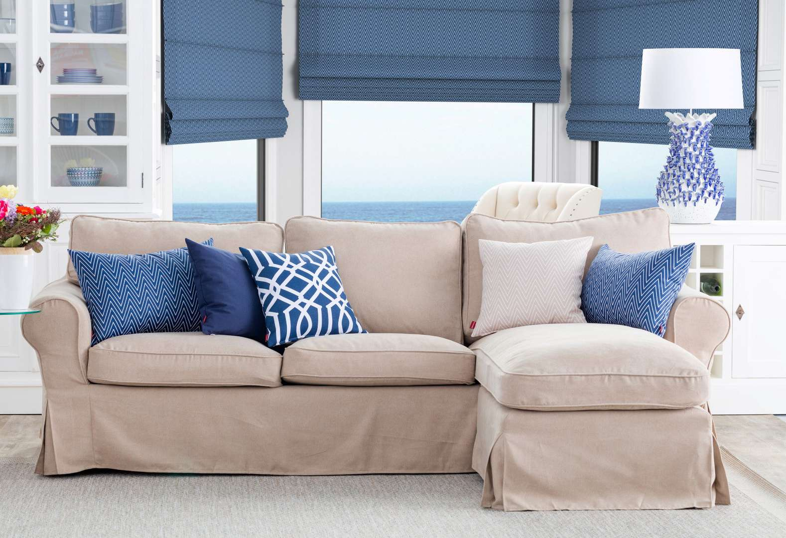 Styl Hampton - obývací pokoj