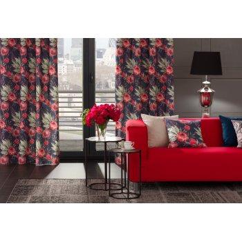 Obývačka v červenej farbe