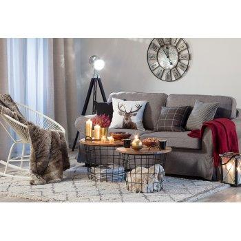 Útulný obývací pokoj ve stylu Hygge