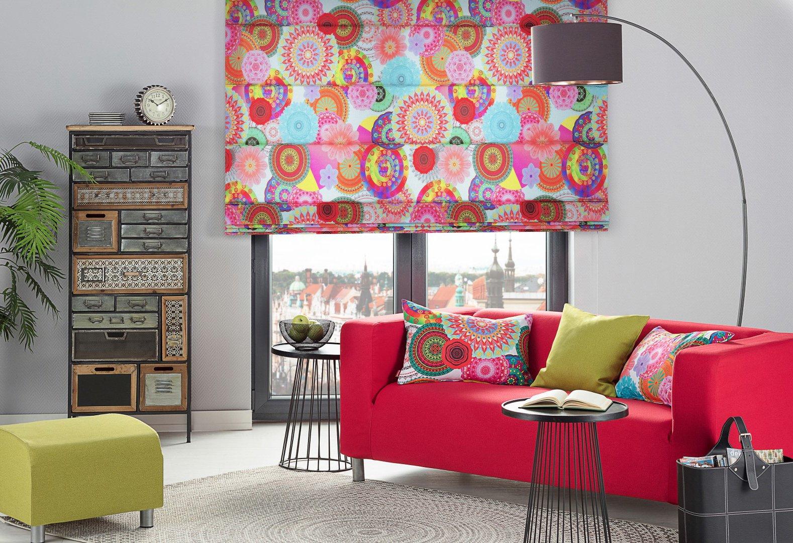 Boho - barevný obývací pokoj