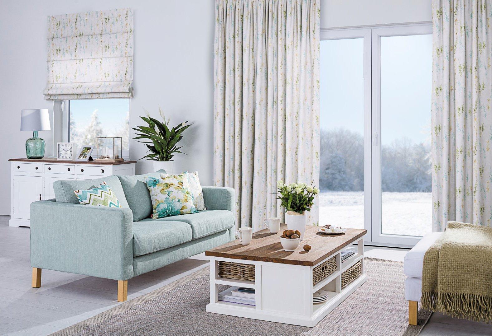 woonkamer in pastel
