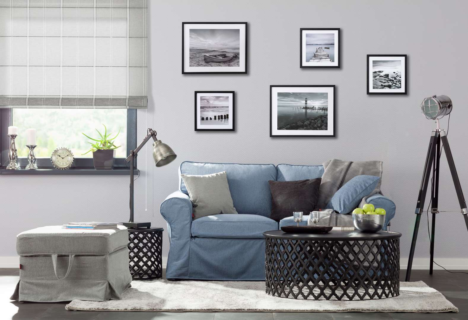 lichte woonkamer in loftstijl