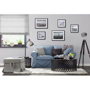 Obývačka s prvkami loft štýlu