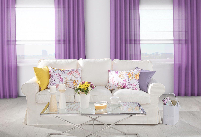 woonkamer in paars