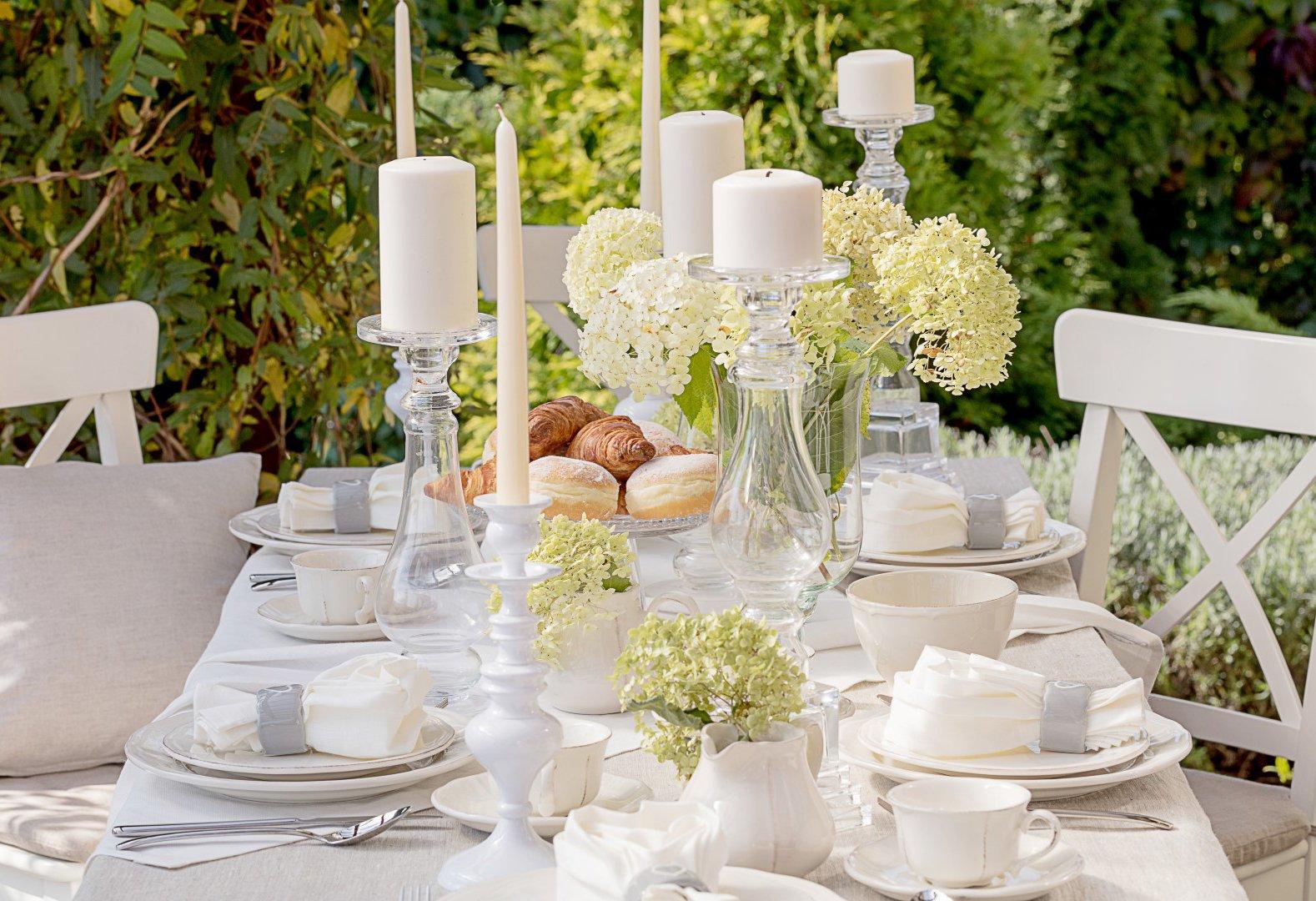 Garden Afternoon Tea Party in White