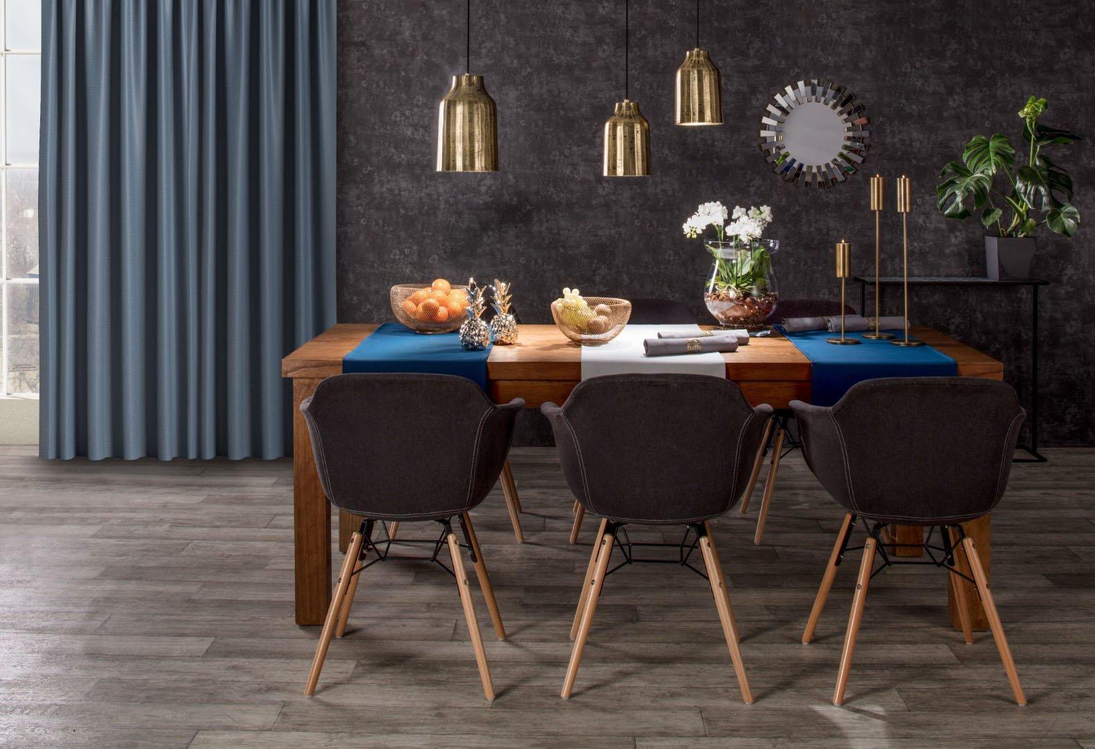 verdunklungsvorhang mit kr uselband dunkelblau dekoria. Black Bedroom Furniture Sets. Home Design Ideas